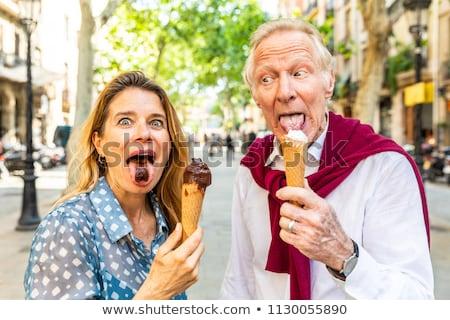 cioccolato · gelato · zucchero · cono · isolato · bianco - foto d'archivio © lisafx