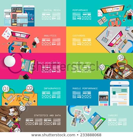 Stock fotó: Dizájnok · munkaterület · csapatmunka · stílus · terv · elemek