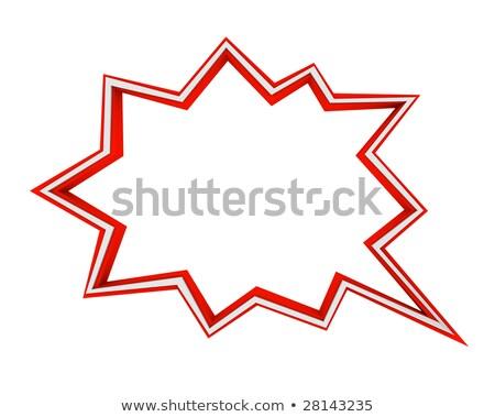 Szó vásár képregény csillag piros erő Stock fotó © gemenacom