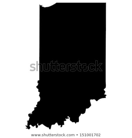 Mapa Indiana viajar américa EUA isolado Foto stock © rbiedermann