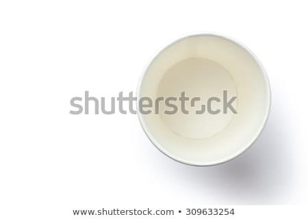 Boş kâğıt beyaz kahve geri dönüşüm Stok fotoğraf © dezign56