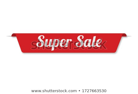 Super Offer Red Vector Icon Button stock photo © rizwanali3d