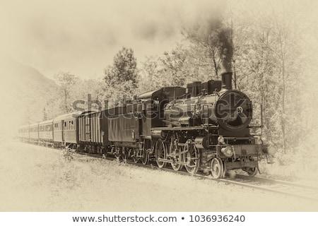 Stockfoto: Vintage · locomotief · model · stoomlocomotief · trein · speelgoed