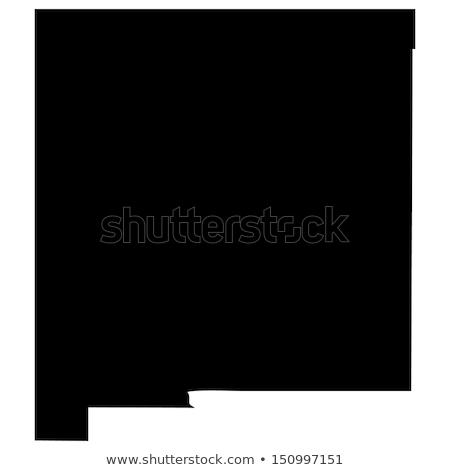New Mexico harita yalıtılmış beyaz ABD Amerika Stok fotoğraf © speedfighter