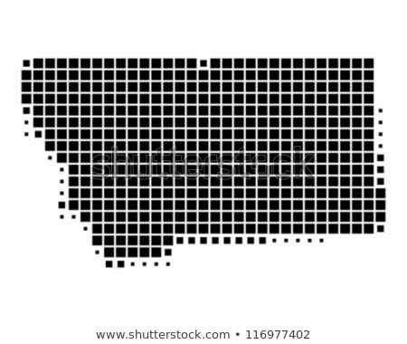 map of usa montana state with dot pattern stock photo © istanbul2009