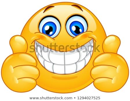 comic cartoon grinning man Stock photo © lineartestpilot