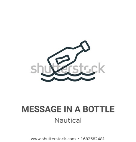 Sign with bottle mail Stock photo © Ustofre9