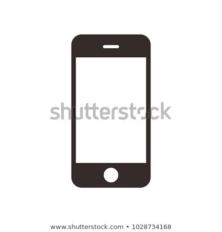 Mobieltje icon Rood mobiele telefoon symbool Stockfoto © nikdoorg