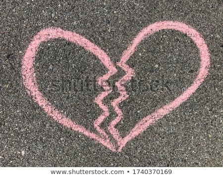 Chalked broken heart Stock photo © Sonya_illustrations