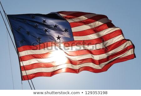Amerikaanse vlag mariene oorlog alle Verenigde Staten defensie Stockfoto © rmbarricarte