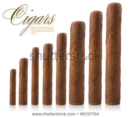 isolated cigars all sizes Stock photo © ozaiachin