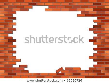 Background texture of a tumbled brick wall Stock photo © ozgur