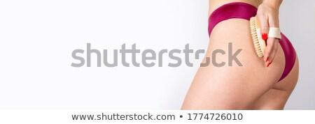 Vrouw ondergoed aanraken bil mensen Stockfoto © dolgachov