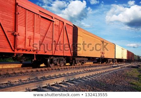 vonat · teher · üzlet · kék · ipar · forgalom - stock fotó © nobilior