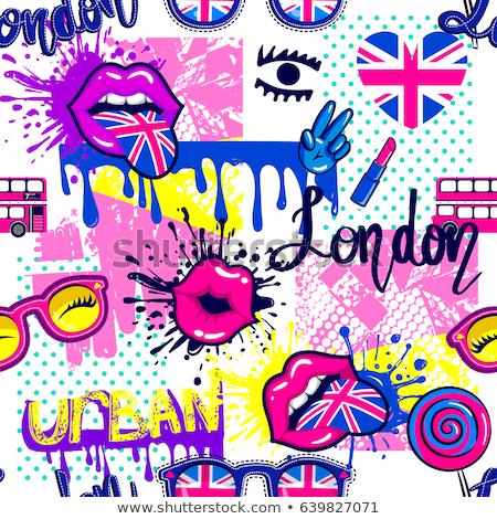 Anglii · retro · banderą · angielski · vintage · grunge - zdjęcia stock © netkov1