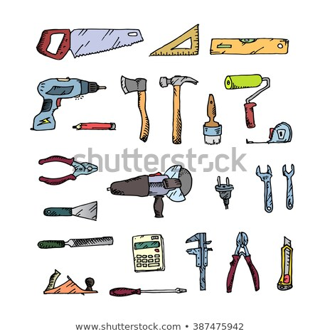 freehand drawing construction stock photo © netkov1