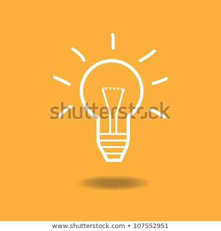 colored doodle energy saving light bulb stock photo © netkov1