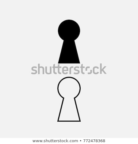Serrure quoi butler vu silhouette homme Photo stock © Bigalbaloo