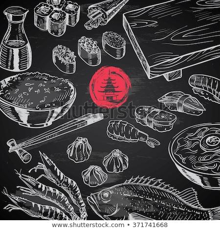 Shrimp icon drawn in chalk. Stock photo © RAStudio