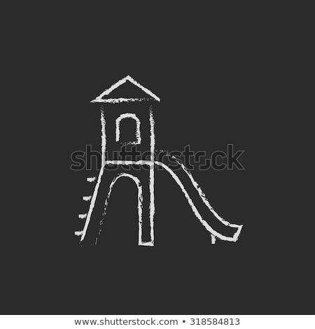 слайдов икона мелом рисованной доске Сток-фото © RAStudio