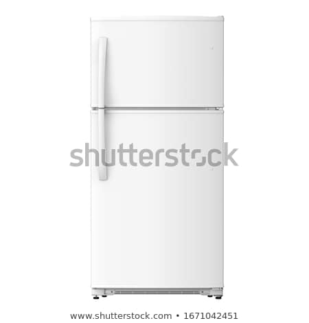 modern refrigerator isolated on white background stock photo © ozaiachin