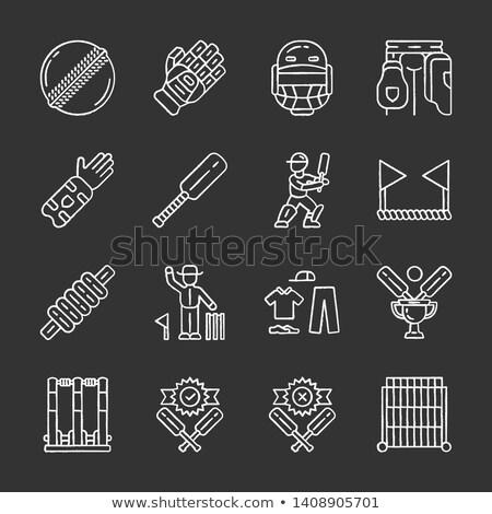 クリケット アイコン チョーク 手描き 黒板 ストックフォト © RAStudio