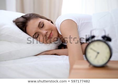 profundo · dormir · foto · belo · mulher · grávida · adormecido - foto stock © lightsource