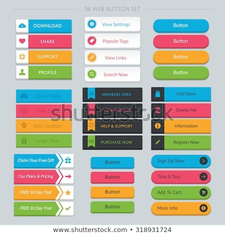 Search Pink Vector Button Icon Stock photo © rizwanali3d