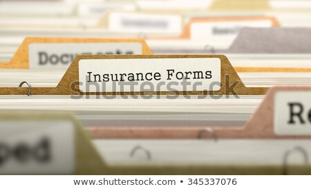 Folder in Catalog Marked as Insurance Forms. Stock photo © tashatuvango
