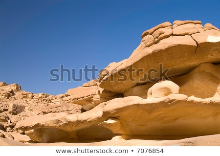Resistiu rocha península Egito textura natureza Foto stock © Nekiy