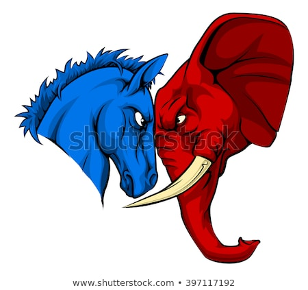 democrata · burro · bandeira · americana · isolado · branco - foto stock © patrimonio