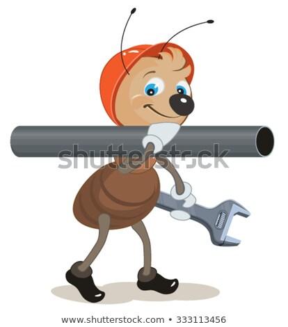 Ant idraulico spalla pipe chiave Foto d'archivio © orensila