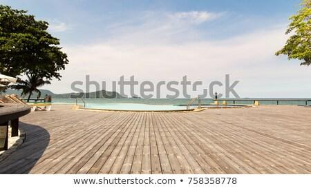praia · azul · areia · verão - foto stock © lunamarina