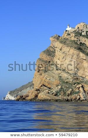 farol · montanha · mediterrânico · mar · praia · água - foto stock © lunamarina