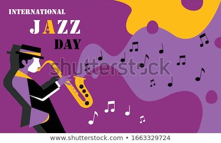 Jazz clube fundo cartaz vermelho desenho Foto stock © Bigalbaloo