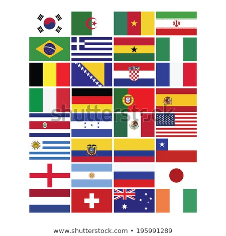 Alemanha Colômbia bandeiras quebra-cabeça isolado branco Foto stock © Istanbul2009