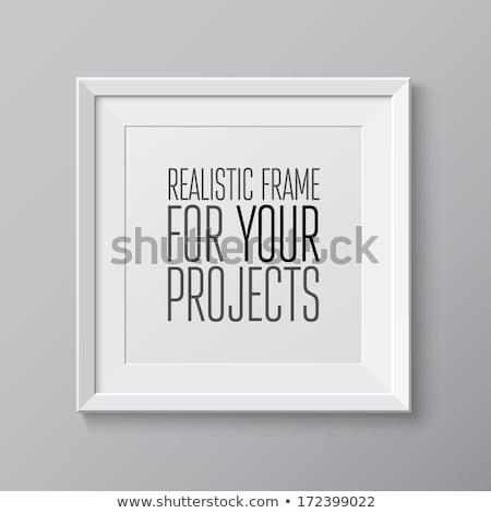 madeira · photo · frame · branco · vetor · eps10 · projeto - foto stock © kaikoro_kgd