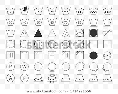 洗濯 ケア シンボル 服 ラベル 洗浄 ストックフォト © EvgenyBashta