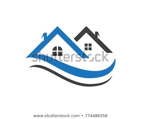 Stock fotó: Tulajdon · logo · sablon · otthon · épület · üzlet