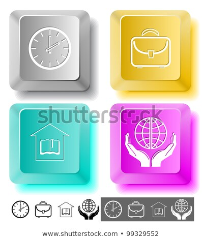 house on open book with timer stock photo © cherezoff