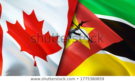 Canada and Mozambique Flags  Stock photo © Istanbul2009