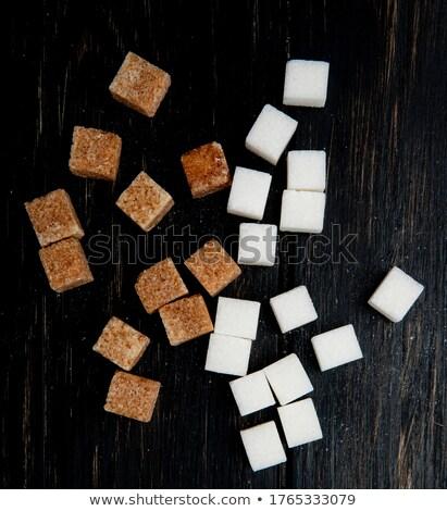 white sugar cubes in a box top view stock photo © cipariss