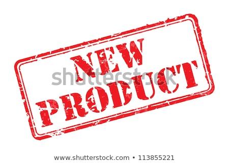 Novo ilustração papel vermelho carimbo Foto stock © kiddaikiddee