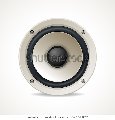 great loud speakers isolated on white stock photo © shutswis