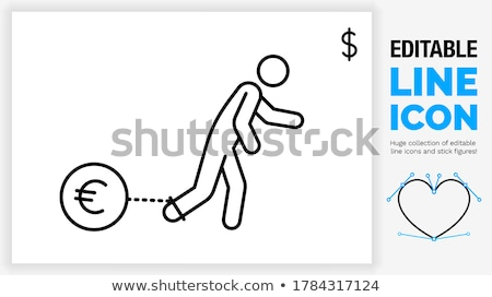 Ball and chain with euro sign Stock photo © cherezoff