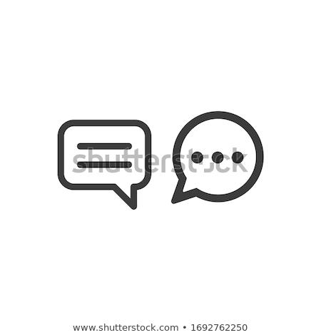 debat · dialoog · discussie · symbool · dun - stockfoto © rastudio
