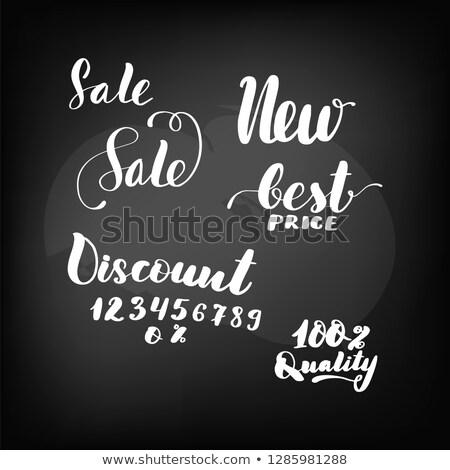 best offer handwritten by white chalk on a blackboard stock photo © tashatuvango