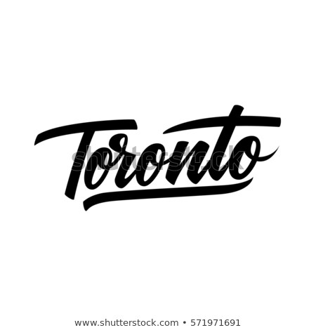 Toronto texto Cartoon nombre ciudad ontario Foto stock © blamb