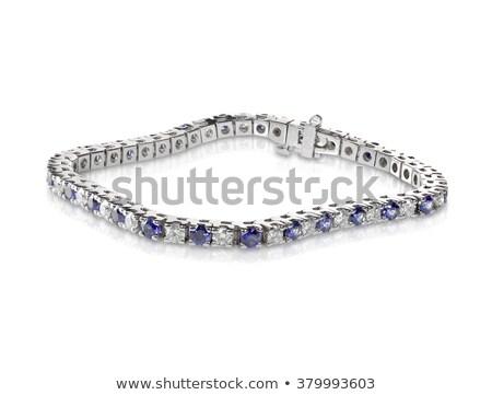 Zdjęcia stock: Diamond And Sapphire Tennis Bracelet