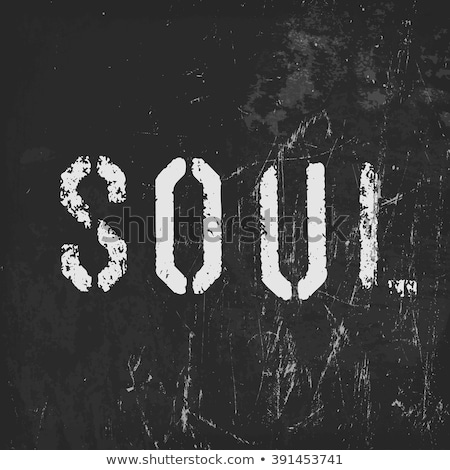 'Soul' in stencil letters on a grunge black background Stock photo © pashabo